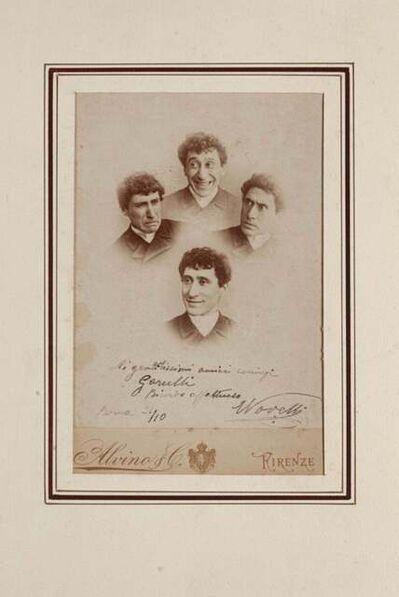 Ermete Novelli, 'Photo of the Great Comedian', 1887