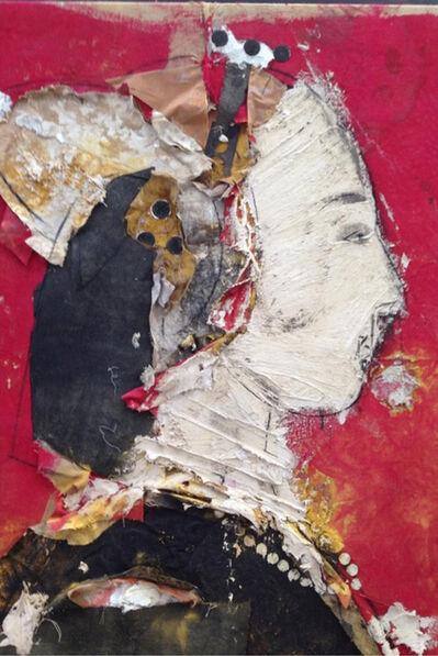 Manolo Valdés, 'Perfil Sobre Fondo Rojo (Profile on Red Background)', 2013