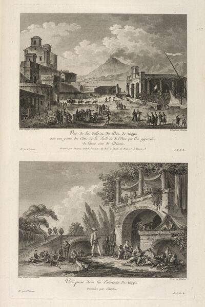 Jean Claude Richard de Saint-Non (author), 'Vu‰ prise dans les Environs de Reggio ; Vu‰ du Port de Reggio', 1781