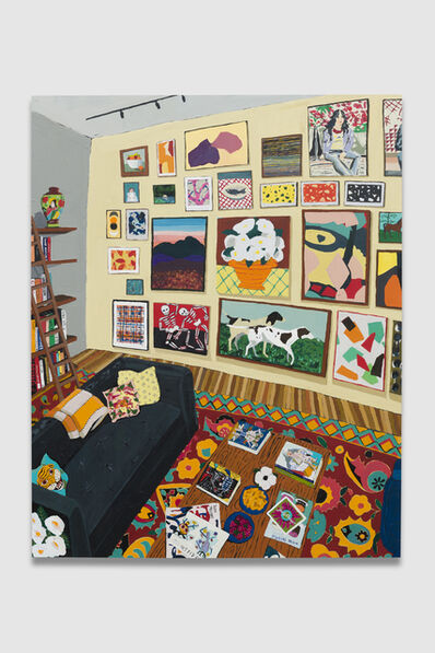 Hilary Pecis, 'Interior with Books and Paintings 2', 2019