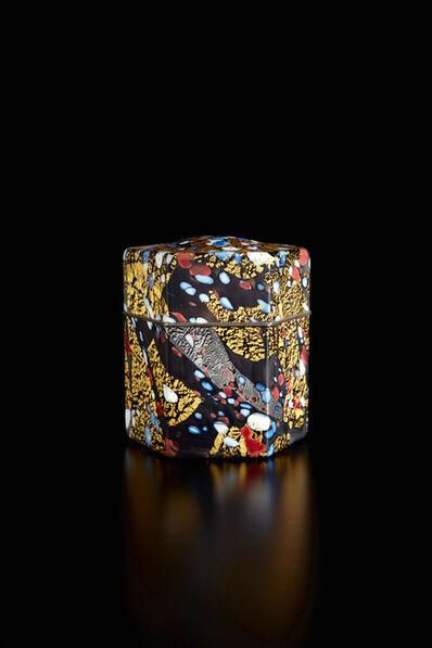 "Kyohei Fujita, 'Kazaribako (ornamented box), ""Red and White Plum Blossoms""', ca. 1995"