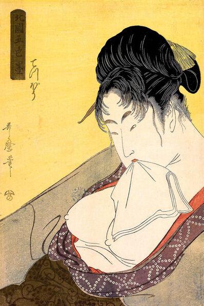 Kitagawa Utamaro, 'Woman With Bare Breasts', 1780-1800