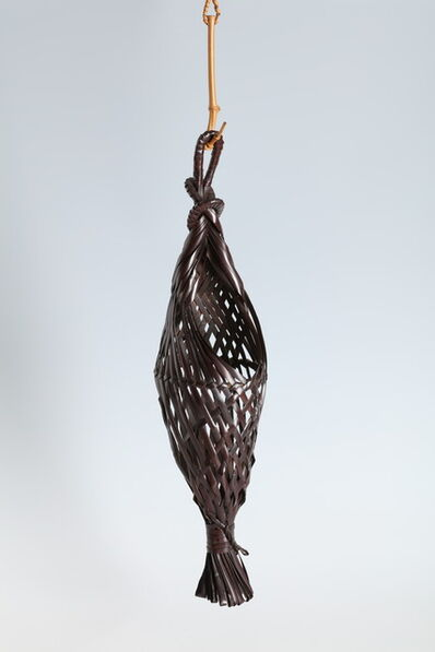 "Iizuka Rōkansai, '""Bagworm"" Hanging Flower Basket (T-4283)', ca. 1942"