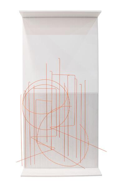 Jesús Rafael Soto, 'Escriture Verticale Orange', 1989