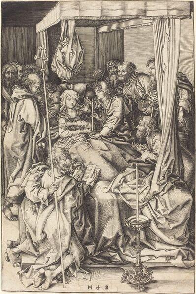 Martin Schongauer, 'Death of the Virgin', ca. 1470/1475