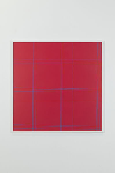 François Morellet, 'Two patterns of perpendicular lines, 105/125', 1952