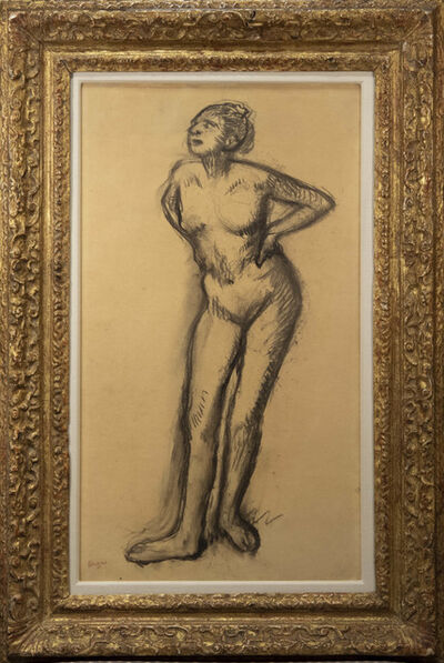 Edgar Degas, 'Study of a Nude Dancer', 1895-1900