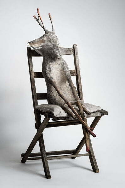 Elizabeth Jordan, ''Animal sitting in chair, sculpture: 'Jersey Devil III'', 2019