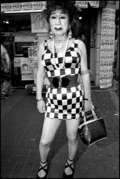 Bruce Gilden, 'Transvestite outside bar, Shinjuku, Tokyo, ', 1999