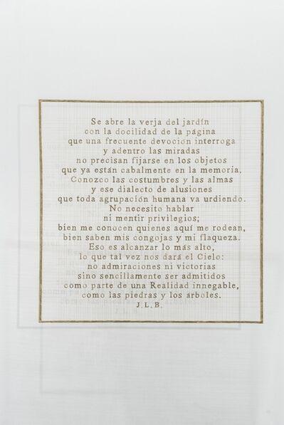 Sabrina Mezzaqui, 'Llaneza (J.L.B.)', 2018