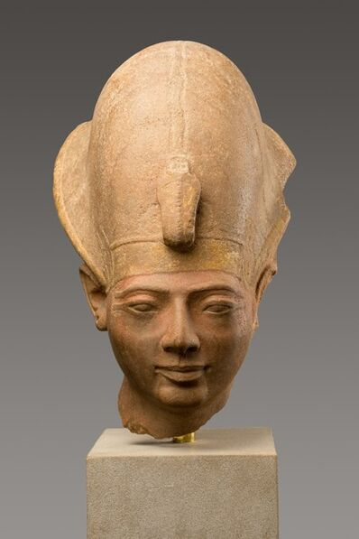 Unknown Egyptian, 'Head of King Amenmesse Wearing the Blue Crown', ca. 1203–1200 B.C.