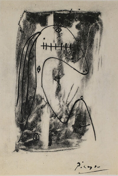 Pablo Picasso, 'Figure et Profil (Figure and Profile), 1949 Limited edition Lithogrph by Pablo Picasso', 1949