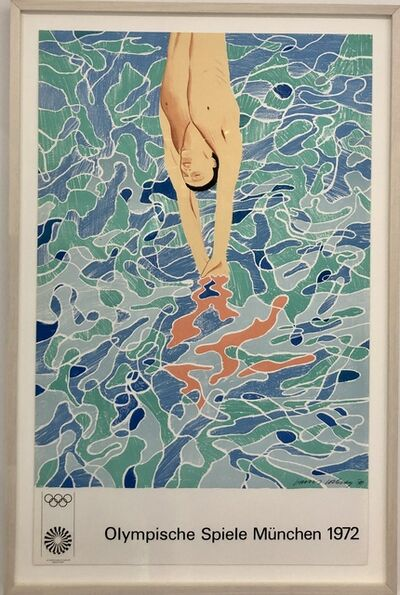 David Hockney, ''The Diver' Olympic Games Munich ', 1972