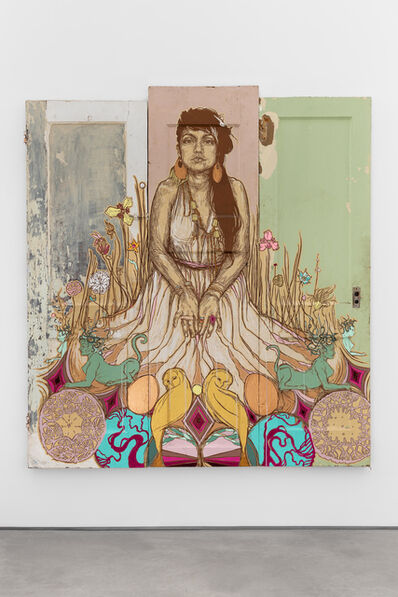Swoon, 'Moni and the Sphynx', 2017