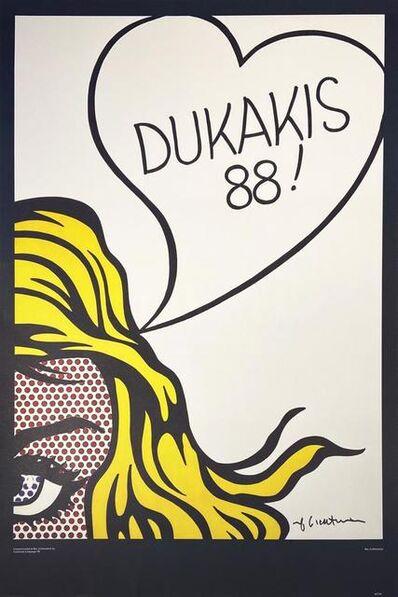 Roy Lichtenstein, 'Poster: Dukakis 88!', 1988