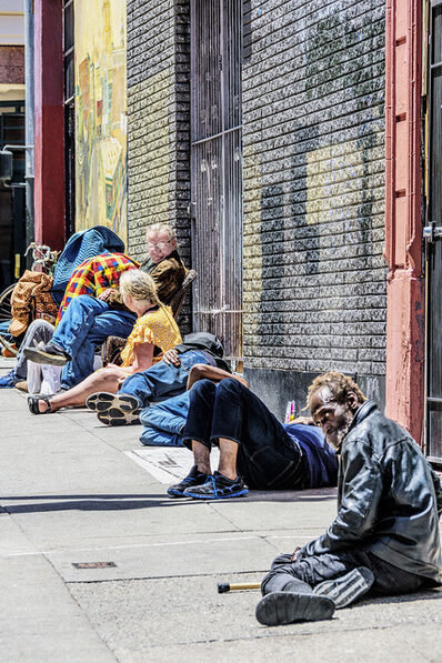 Mitchell Funk, 'Group in the Tenderloin,  San Francisco', 2019