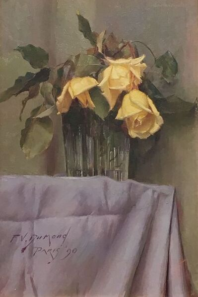 Frank Vincent DuMond, 'Yellow Roses', 1890