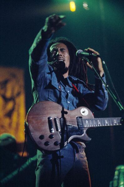 David Burnett, 'Rebel Music, Bob Marley and The Wailers in Brussels, Belgium, on their Exodus Tour in Europe', 1977