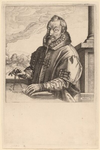 Hendrik Goltzius, 'Christoph Plantin', probably c. 1583