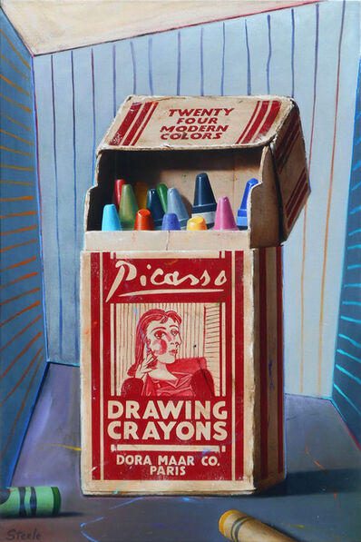Ben Steele, 'Picasso Drawing Crayons', 2017