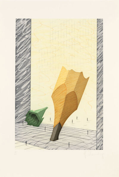 Claes Oldenburg, 'Proposal for a Colossal Monument in Downtown New York City: Sharpened Pencil Stub with Broken-off Tip of the Woolworth Building', 1993
