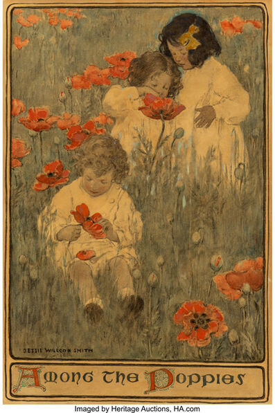 JESSIE WILLCOX SMITH, 'Among the Poppies, Scribner's Magazine interior illustration', 1903