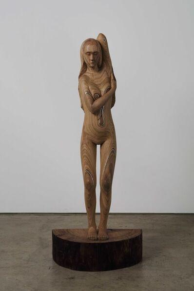 Tanada Koji, 'woman with curved line', 2019