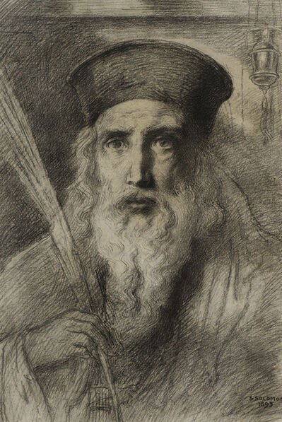 Simeon Solomon, 'The Rabbi', 1893