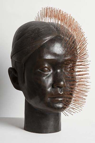 Prune Nourry, 'Imbalance Terracotta Daughter Head', 2016