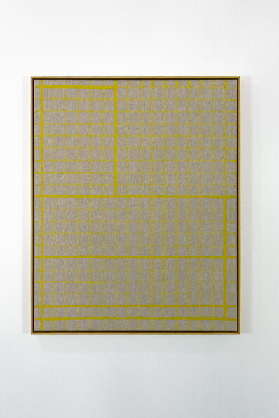 Bertrand Fournier, 'Yellow lines on yellow grid ', 2019