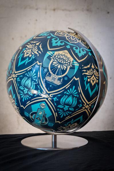 Shepard Fairey, 'Earth Crisis Globe', 2016