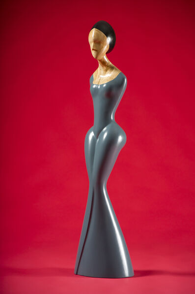 David Hostetler, 'Blue Gown, wood sculpture, painted', 2006