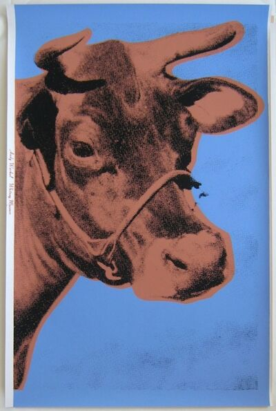 Andy Warhol, 'Warhol Blue Cow, Signed', 1971