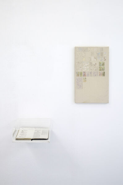 Flora Hauser, 'Notebook and sketches on canvas', 2016