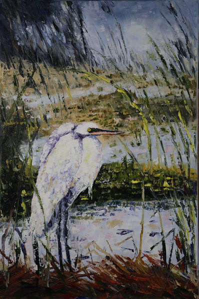 Geoffrey C. Smith, 'Egret in the Reeds', 2019