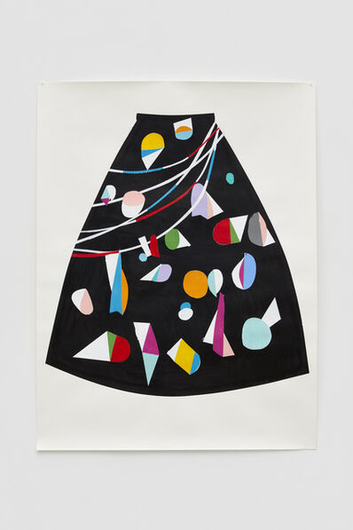 Nathan Carter, 'Long painted skirt for East Village instigator', 2017