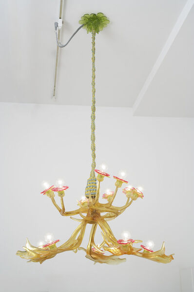 Virgil Marti, 'Chandelier (Fallow Deer, White-Tail Deer, and Anemones), reverse (yellow)', 2006