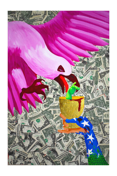 Bailey Scieszka, 'Liberty Hand Giving Support to the Pink Bald Eagle', 2019