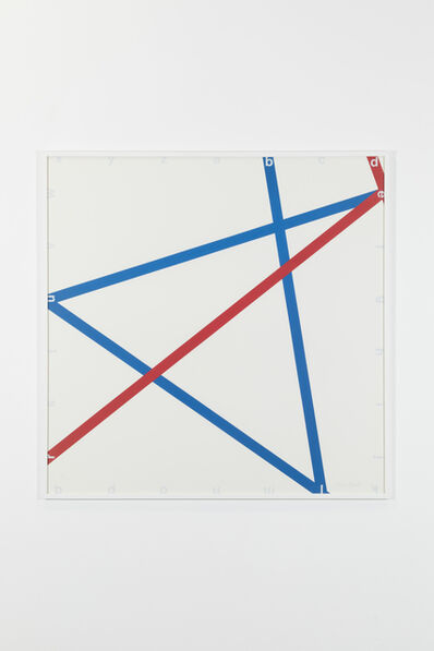 François Morellet, 'Blue-red, 105/125', 1982