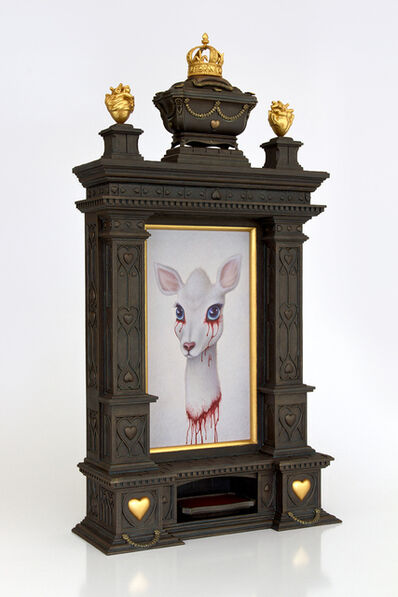 Garry Buckley, 'Reliquary of Blood (Frame) – Relic of Blood (Painting)', 2018
