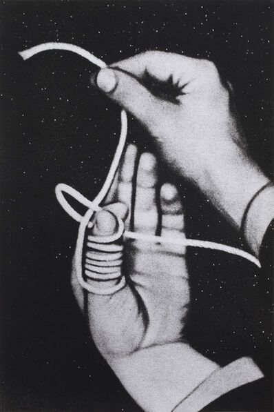 Alessandra Spranzi, 'Mano che lega un'altra (L'insieme è nero)', 2020