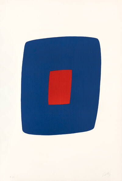 Ellsworth Kelly, 'Dark Blue with Orange', 1964-1965