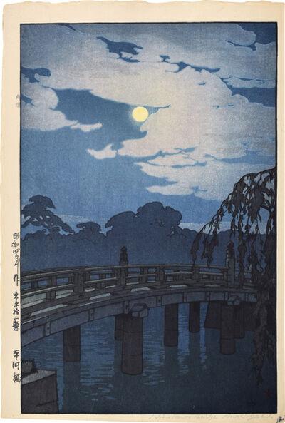 Yoshida Hiroshi, 'Twelve Scenes of Tokyo: Hirakawa Bridge', 1929