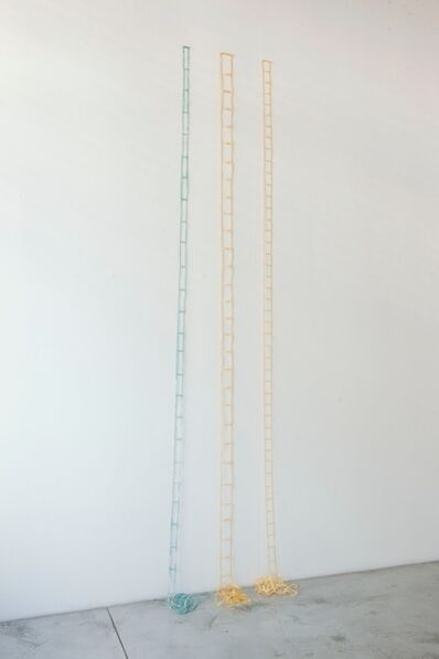 Daniel Dezeuze, 'Tarlatane ladders (3 pieces)', 1973