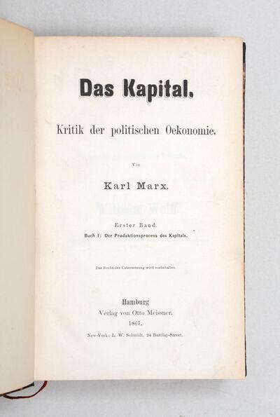 Karl Marx, 'Das Kapital. Kritik der politischen Oekonomie. Erster Band. Buch I: Der Produktionsprocess des Kapitals', 1867