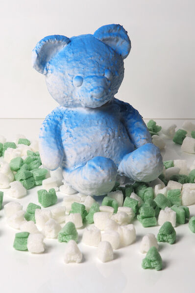 Daniel Arsham, 'Cracked Bear (Blue)', 2018