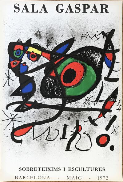 """Joan Miró, 'Affiche pour l' exposition """"Sobreteixims i escultures"""". Sala Gaspar, Barcelona.', 1972"""