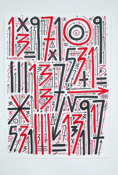 """Sixe Paredes, ' """"ABSTRACCIÓN NUMÉRICA 01""""', 2016"""
