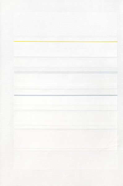Richard Lin, 'Yellow with Grey', 1980-1982