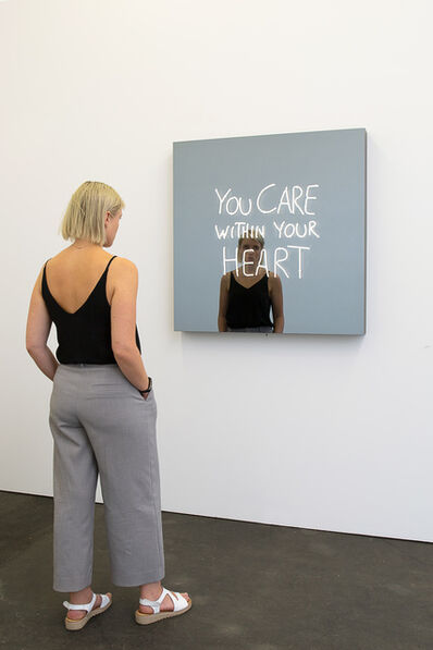 Jeppe Hein, 'YOU CARE WITHIN YOUR HEART (handwritten)', 2018